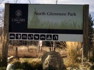 North Glenmore Entrance off Crowchild Trail or 37th Street