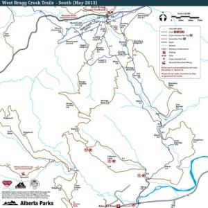 Bragg Creek trail map