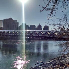Calgary Peace Bridge running