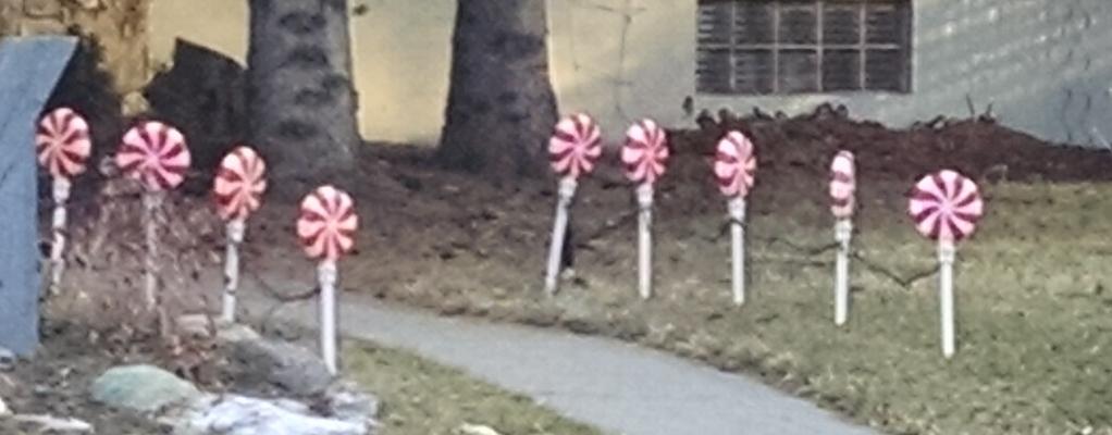 Seen on my run –Lollipops!