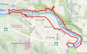 Bowness Park Run (and Bowmont Park) - 16k