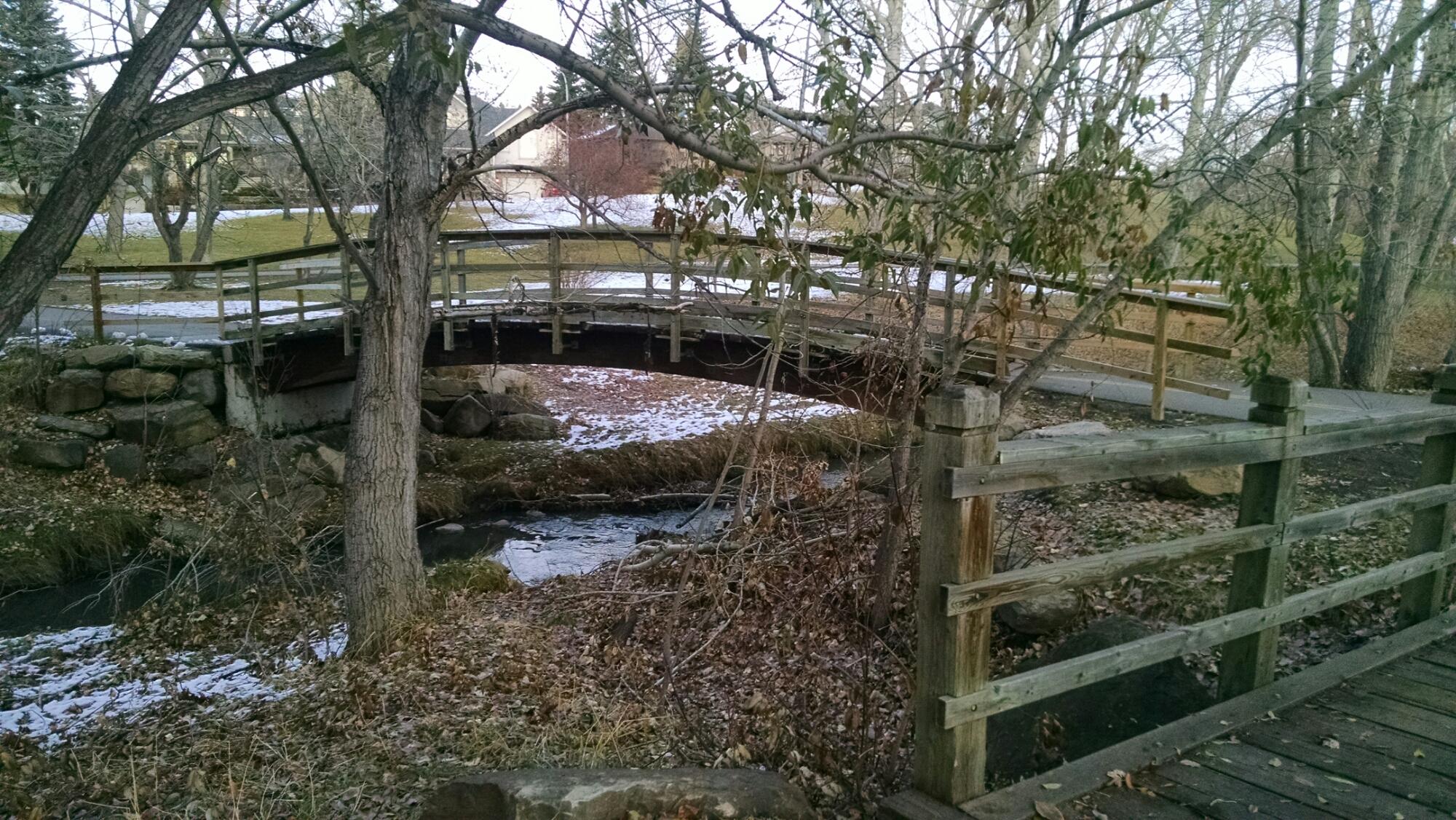 bridge along Calgary trails