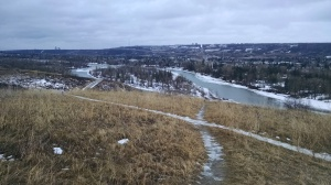 Trails along the Bow River