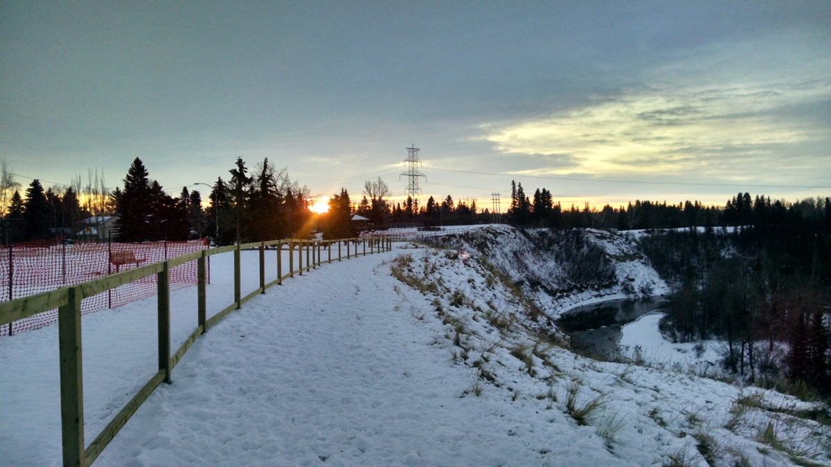 Seen on my run – sunrise on thetrail