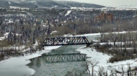 Bow River Train Bridge