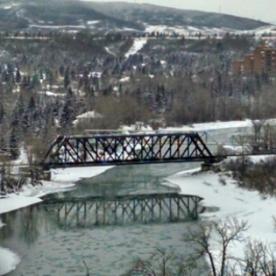 Bow River Train Bridge