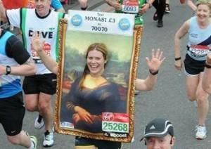 Mona Lisa marathon runner Gemma Kirkham.